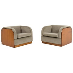 Modernist Lounge Chairs, Probably Italy, 1940s