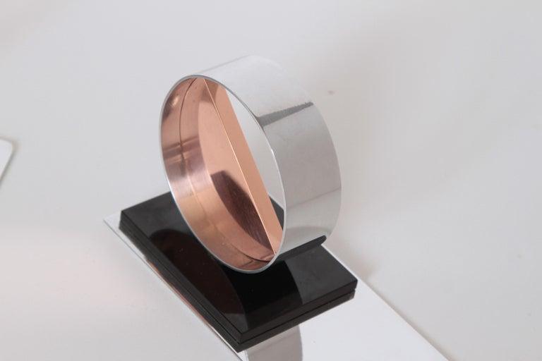 Modernist Machine Age Art Deco Sculptures / Bookends Pair Copper Chrome Bakelite For Sale 3