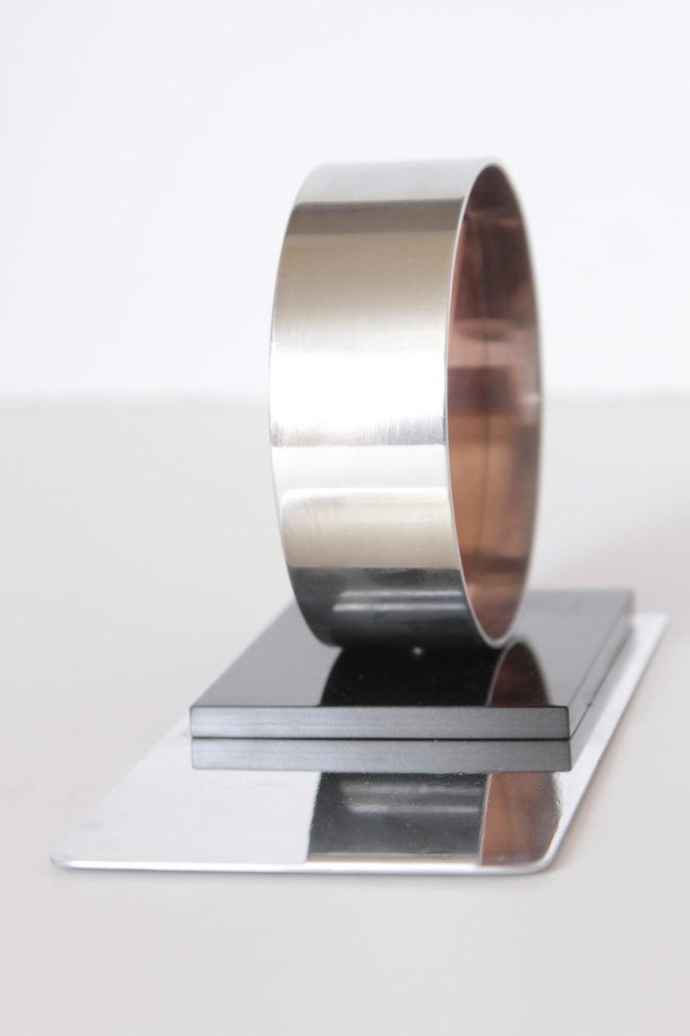Modernist Machine Age Art Deco Sculptures / Bookends Pair Copper Chrome Bakelite For Sale 4