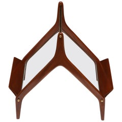 Modernist Magazine Rack Attributed to Ico Parisi, Italy, 1950s