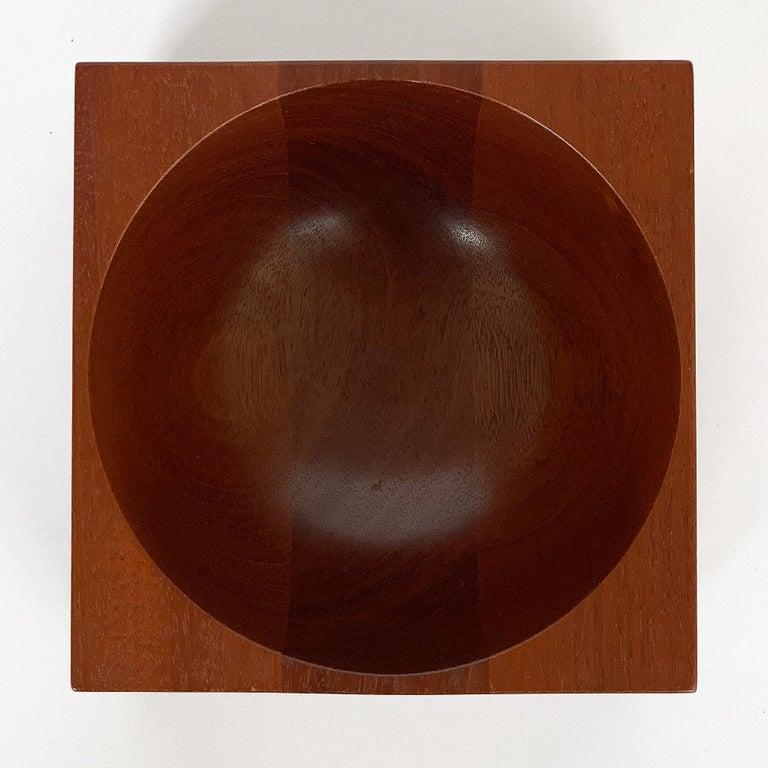 Modernist Mahogany Bowl by John Sage For Sale 4