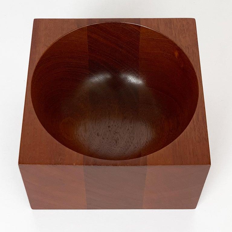Modernist Mahogany Bowl by John Sage For Sale 5