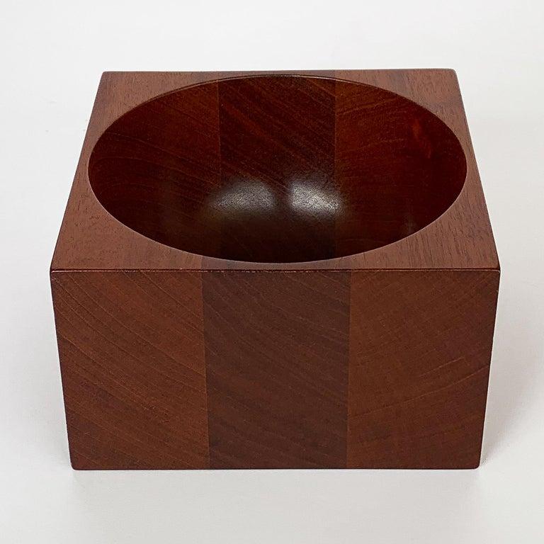 Modernist Mahogany Bowl by John Sage For Sale 6