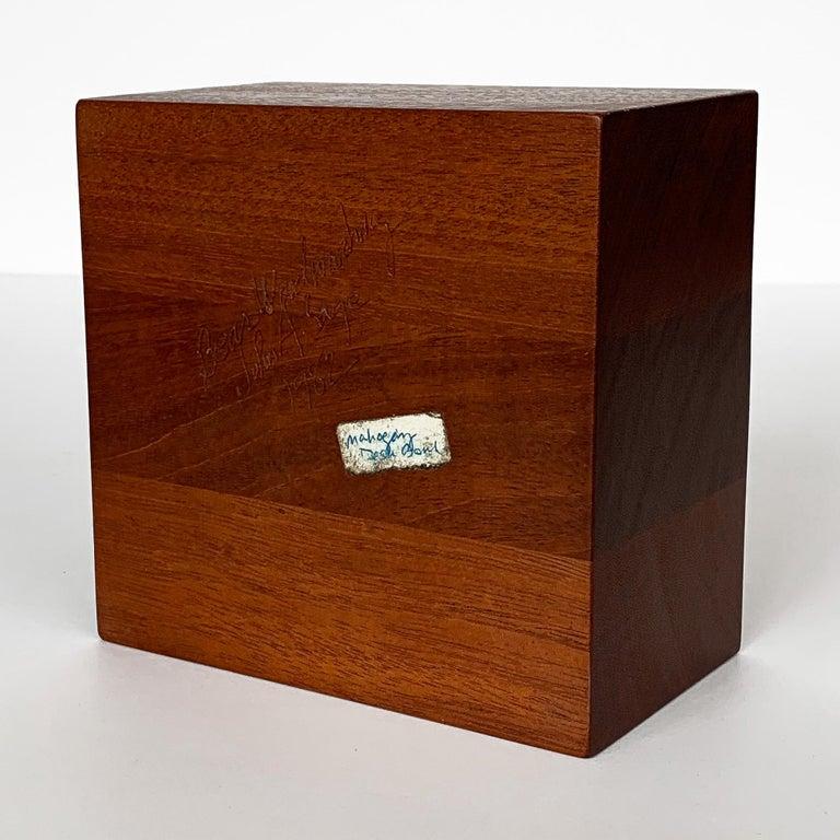 Modernist Mahogany Bowl by John Sage For Sale 7