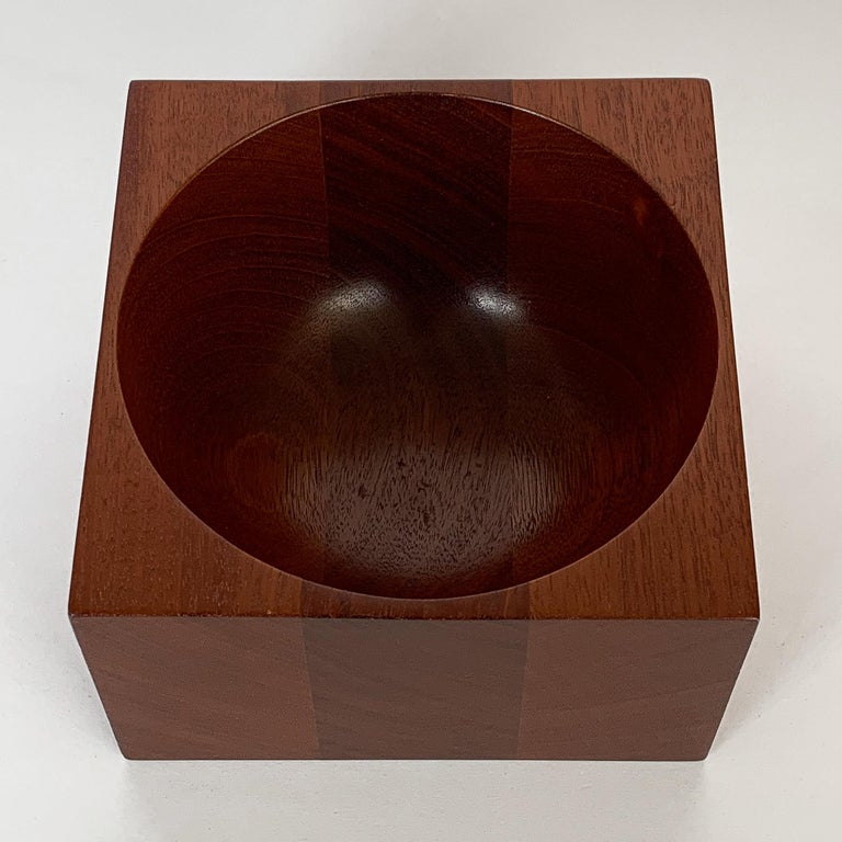 Modernist Mahogany Bowl by John Sage In Good Condition For Sale In Chicago, IL