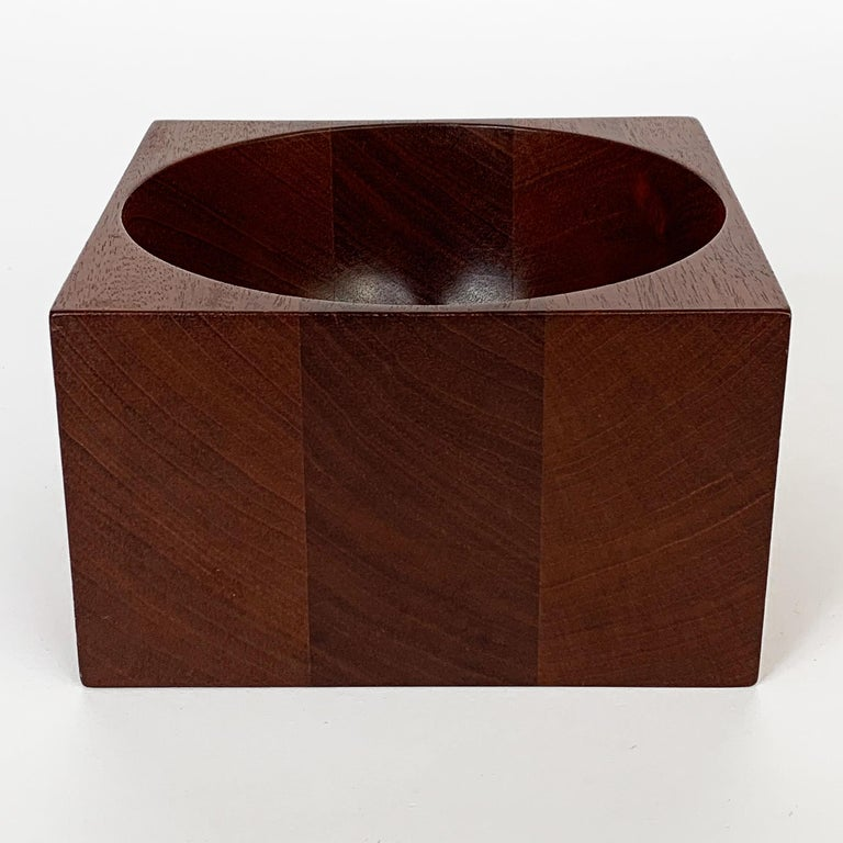 Modernist Mahogany Bowl by John Sage For Sale 1