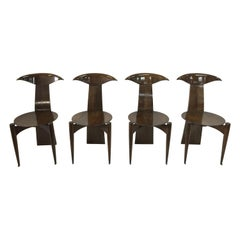Modernist Mahogany Dining Chairs, Set of 4