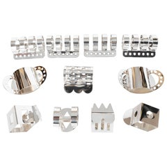 Modernist Memphis Silverplate Napkin Rings by Nathalie du Pasquier for Bodum