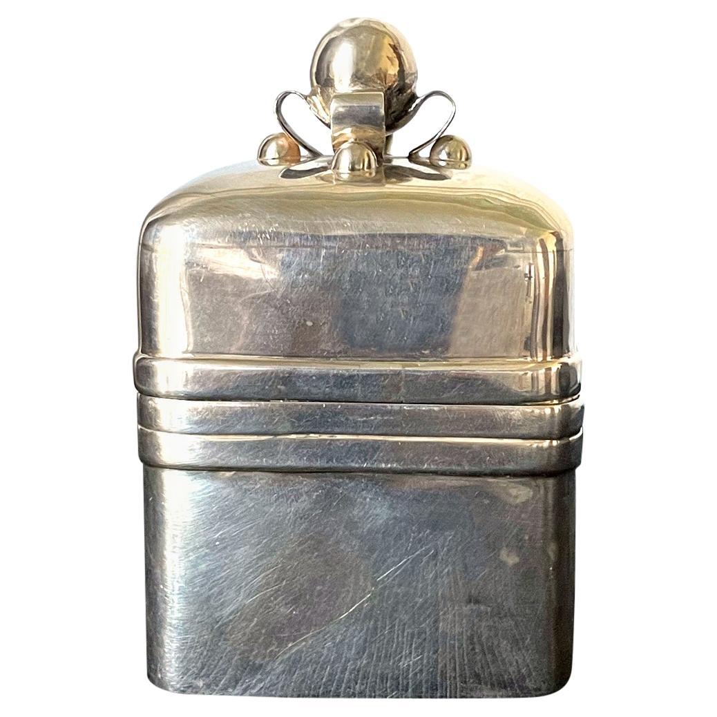 Modernist Mexican Sterling Silver Caddy Box William Spratling