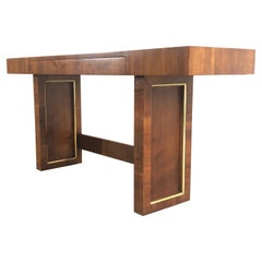 Modernist Mirror Top Console Table