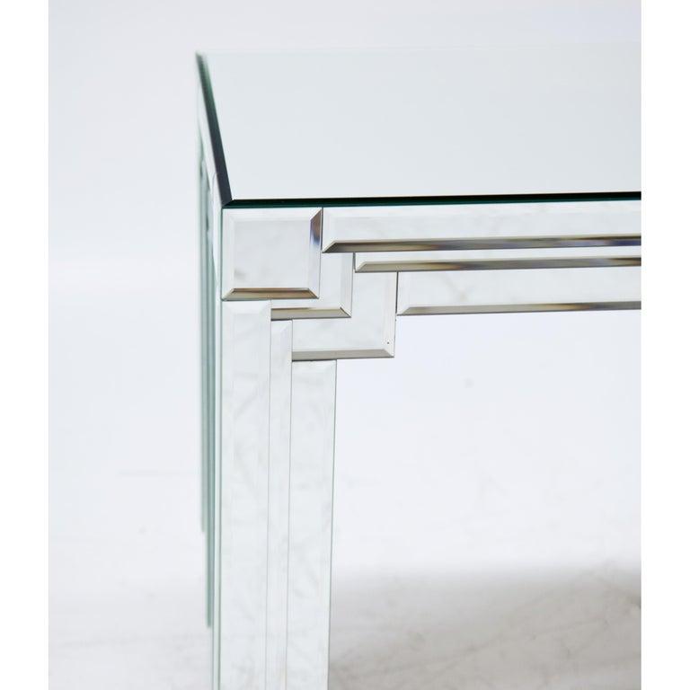 Italian Modernist Mirrored Console For Sale