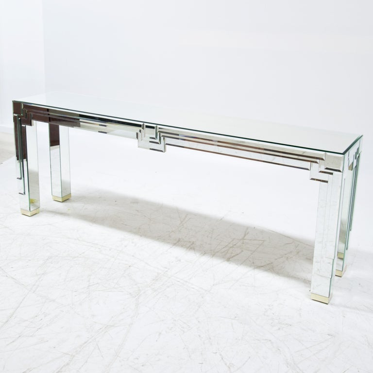 Modernist Mirrored Console For Sale 2