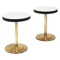 Modernist Mirrored Side Tables Attributed to Jacques Adnet