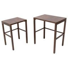 Modernist Nesting Tables H-50 Designed by Jindrich Halabala, Set of 2
