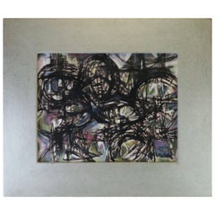 Modernist Norman Gorbaty Oil Painting, circa 1950s