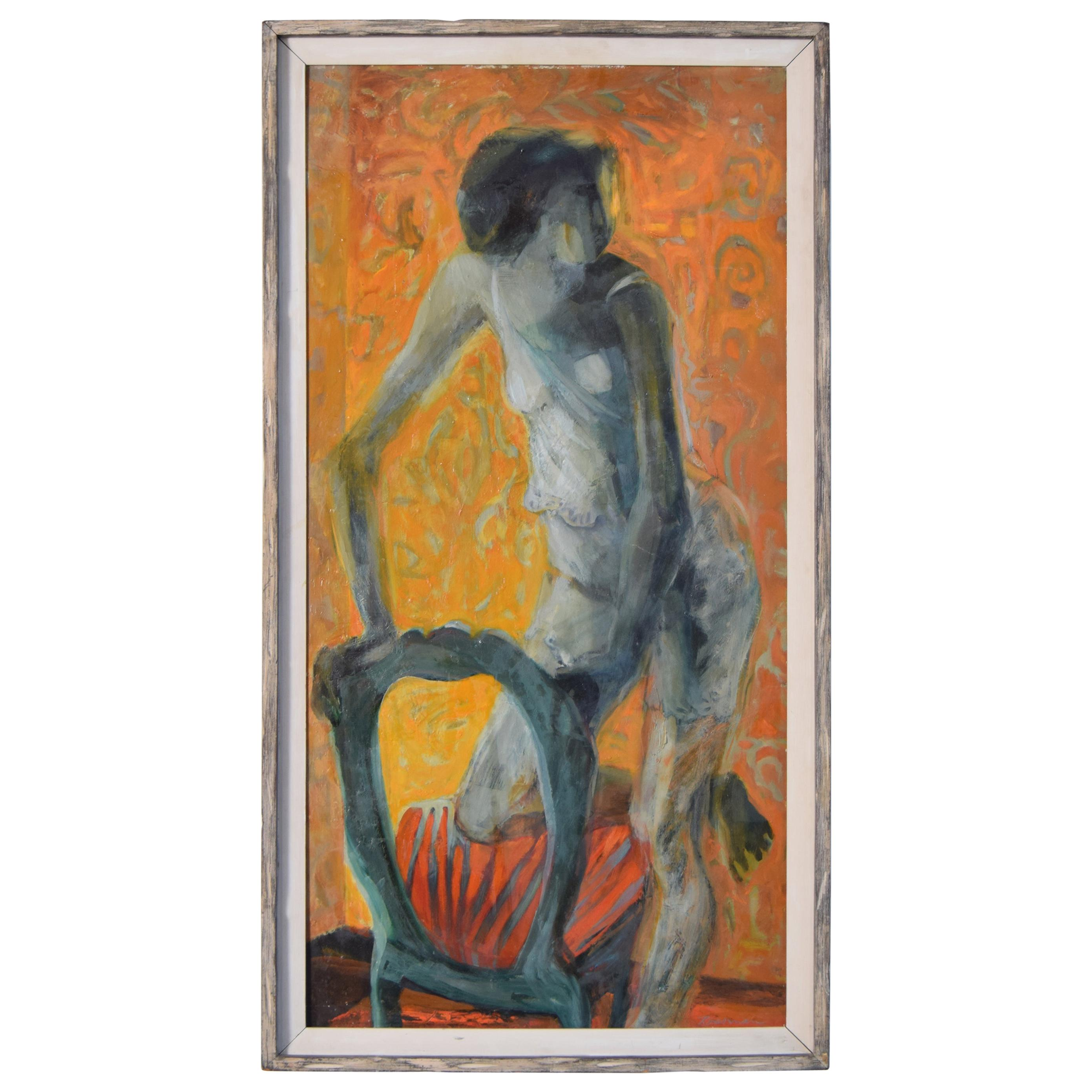 Modernist Oil Painting by Ruth Scharff Rossman