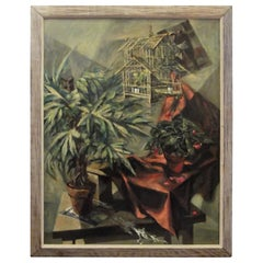 Modernist Oil Painting on Canvas by Martin Zipin