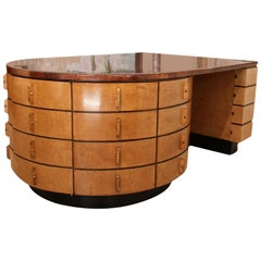 """Modernist """"Omnibus"""" Desk in Maple and Thuja Wood"""