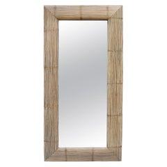 Modernist Oversized Bamboo Wall Mirror