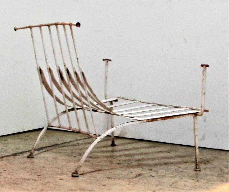 Rare Iron Lounge Chairs by Russell Woodard For Sale 4