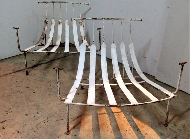20th Century Rare Iron Lounge Chairs by Russell Woodard For Sale
