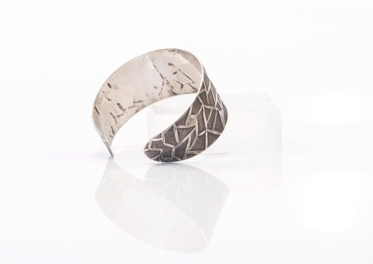 Women's Modernist Oystein Balle Silver Bracelet, Norway, 1960s For Sale