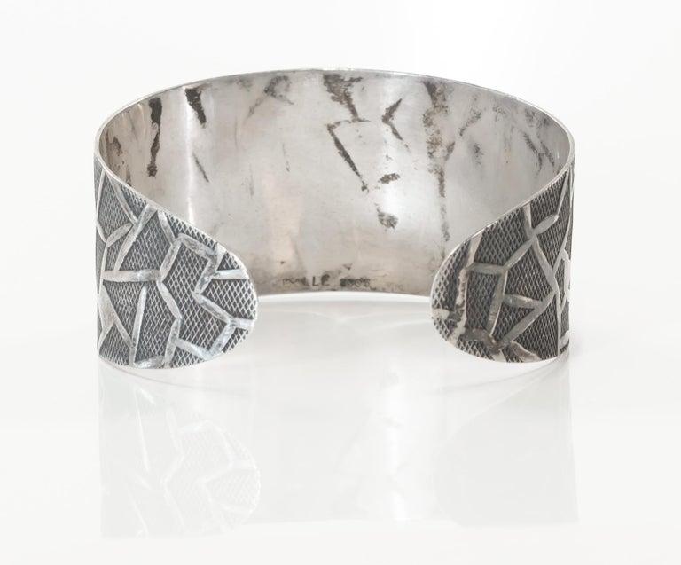 Modernist Oystein Balle Silver Bracelet, Norway, 1960s For Sale 1