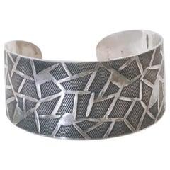 Modernist Oystein Balle Silver Bracelet, Norway, 1960s