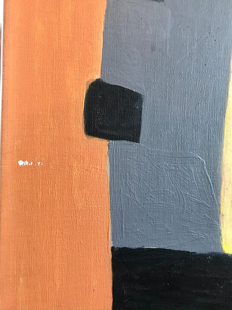 Modernist Painting by Jeanneret, 1978 In Good Condition For Sale In Los Angeles, CA