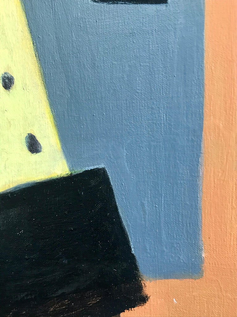 Canvas Modernist Painting by Jeanneret, 1978 For Sale