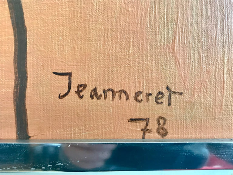 Modernist Painting by Jeanneret, 1978 For Sale 1