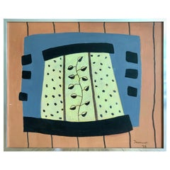 Modernist Painting by Jeanneret, 1978
