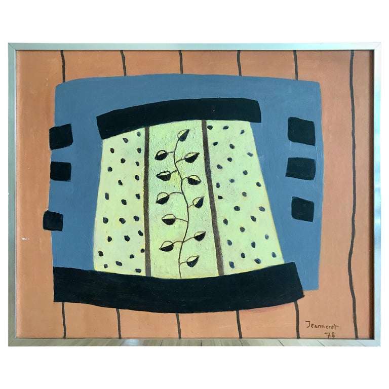 Modernist Painting by Jeanneret, 1978 For Sale
