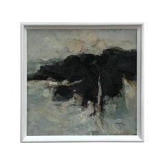 Mid Century Modern Painting by Neil Murison, Oil on Board, Abstract, 1962