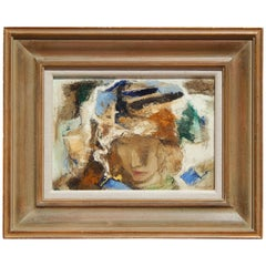 Modernist Painting, Female Subject by Wallace Bassford, circa 1950s