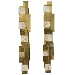 Modernist Pair of Sconces