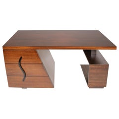 Modernist Partners Desk by Maximillian for Karp Furniture Paul Frankl Style