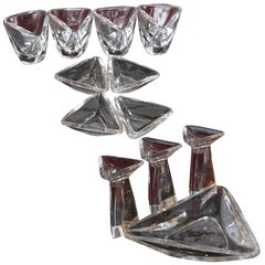 Modernist Peter Muller Munk Crystal for Val St Lambert, Tricorne Collection