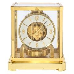 Modernist Polished Brass Atmos Classique Desk Clock by Jaeger-LeCoultre
