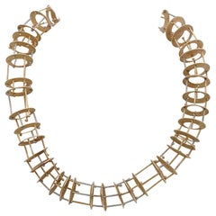Modernist Rare Avant-Garde French Necklace 18 Karat Art Piece
