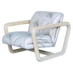 Modernist Rattan Pencil Reed Longe Chair, 1985