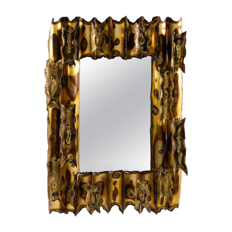 Modernist Rectangular Mirror, United States, circa 1960 For Sale