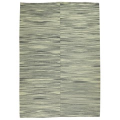 Modernist Retro Deco Kilim, Gray