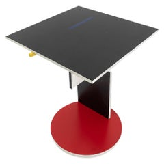 Modernist Rietveld Schroeder 1 Side Table by Cassina, 1970s
