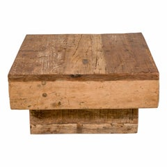 Modernist Rustic Coffee Table, Elm