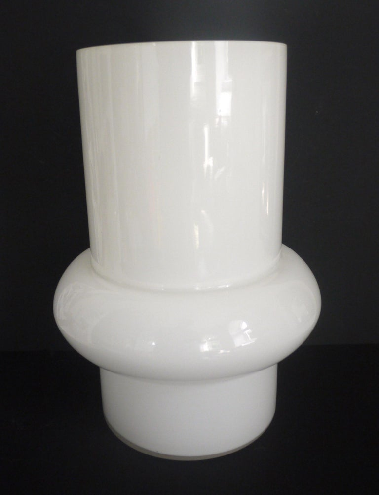 Modernist Scandinavian/Murano Space Age White Glass Vases from Late 1950s-1960s For Sale 4