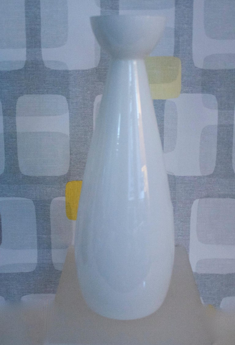Modernist Scandinavian/Murano Space Age White Glass Vases from Late 1950s-1960s For Sale 3