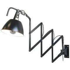 Modernist Scissor Lamp by Wilhelm Bader, Circa 1930s