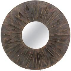 Modernist Sculpted Mirror