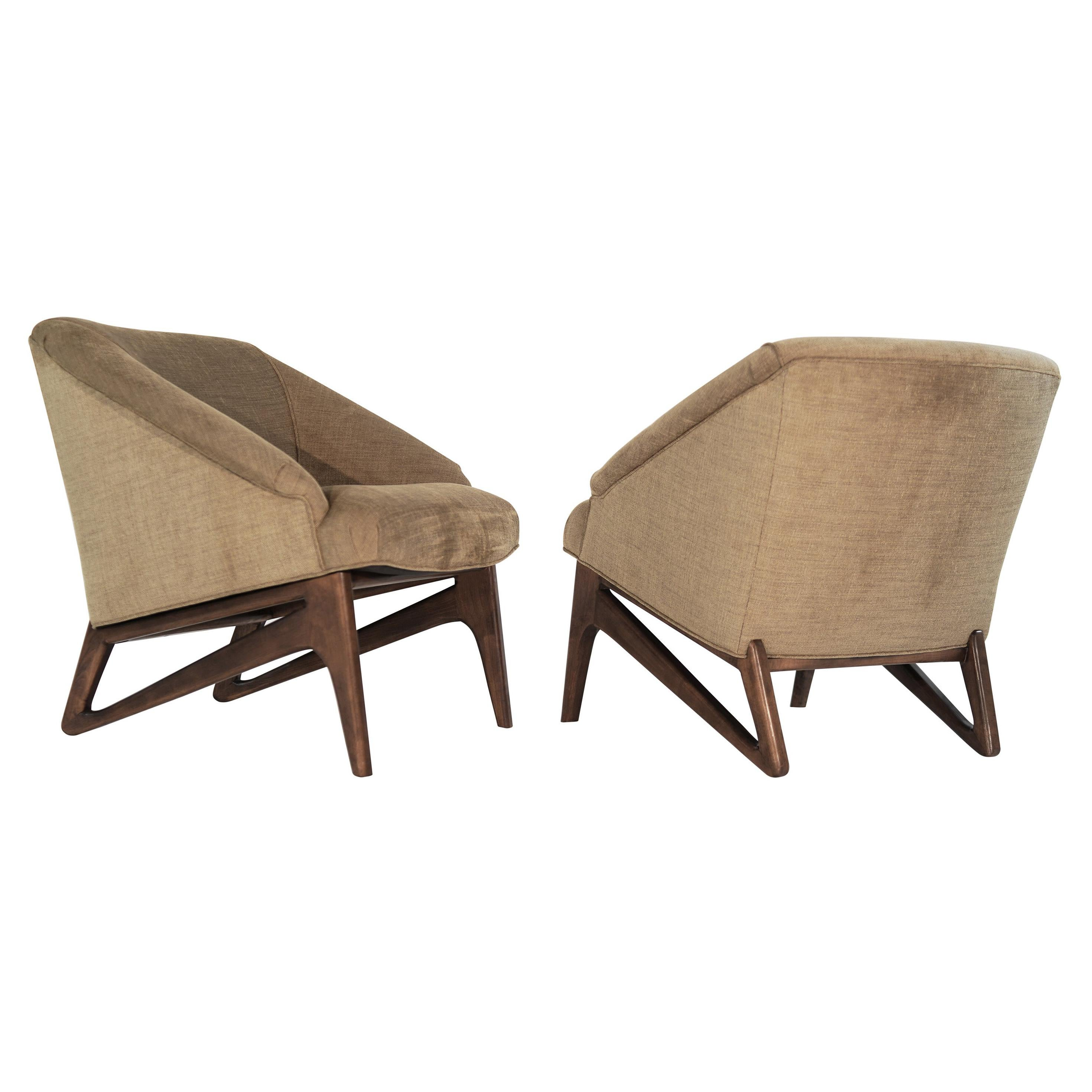 Modernist Sculptural Lounge Chairs, Italy, 1950s